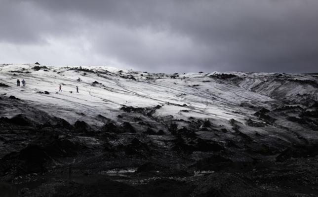 Hikers on Sólheimajökull, Iceland