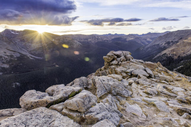 Sunset in the Mountains, Rocky Mountain National Park, Colorado