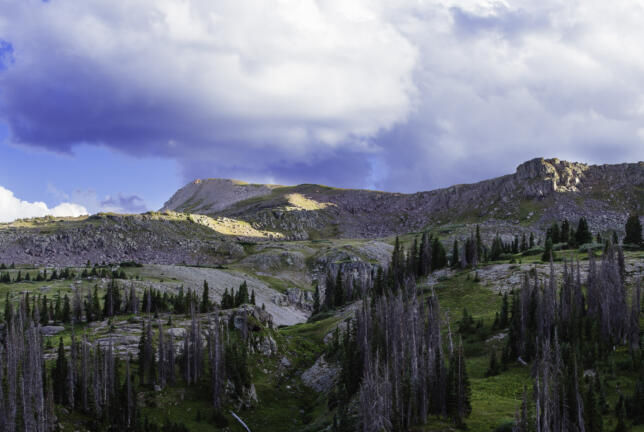 Clouds over the Ridge, Quartz Lake, Colorado