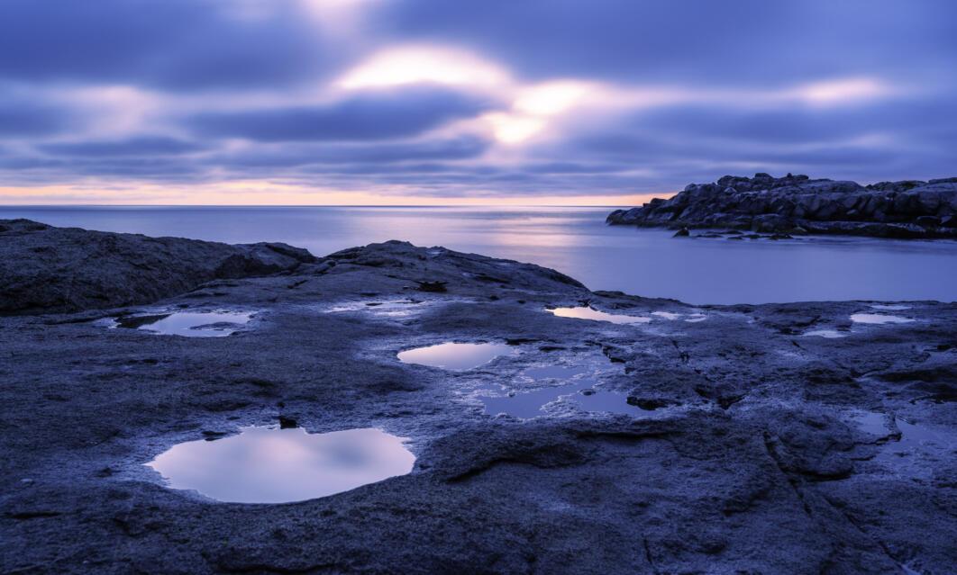 Puddles at Sunrise, York, Maine