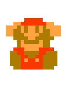Pixel Super Mario Shrug