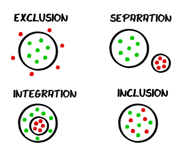 Exclusion / Separation / Integration / Inclusion Schema