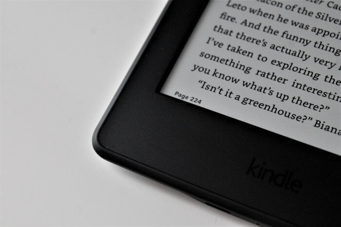reader tablet on a white background