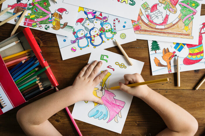 child coloring drawings