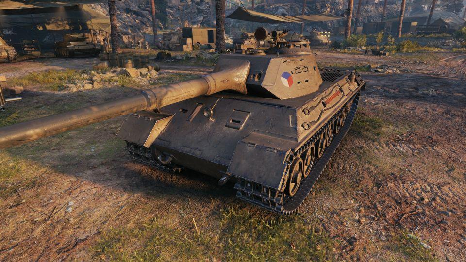 Hotový model tanku Škoda T 45