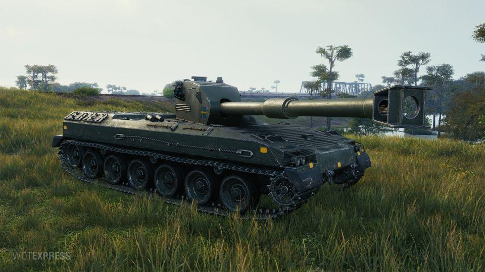 Změna vlastností tanku Bofors Tornvagn
