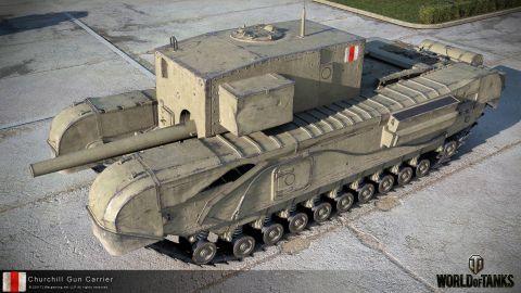 Bližší pohľad na Churchill Gun Carrier