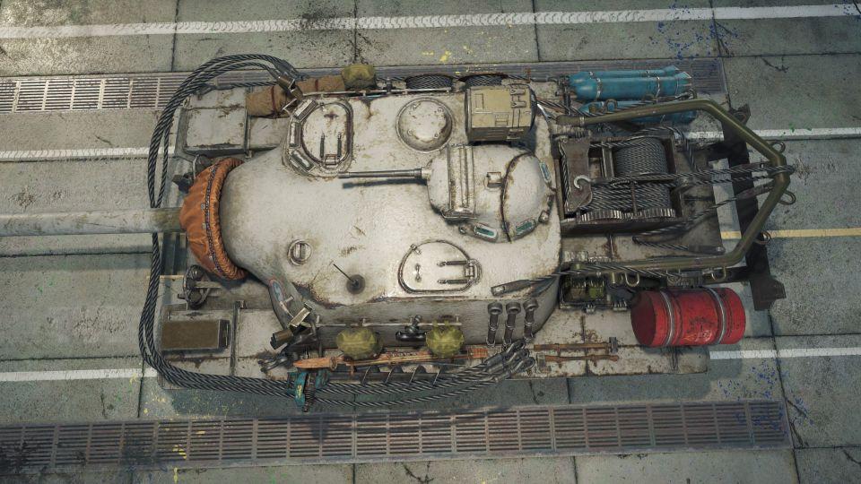 1.12: 3D maskování pro T110E3