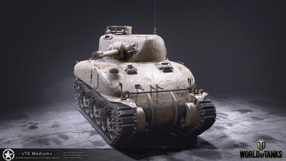HD Rendery tanku T6 Medium