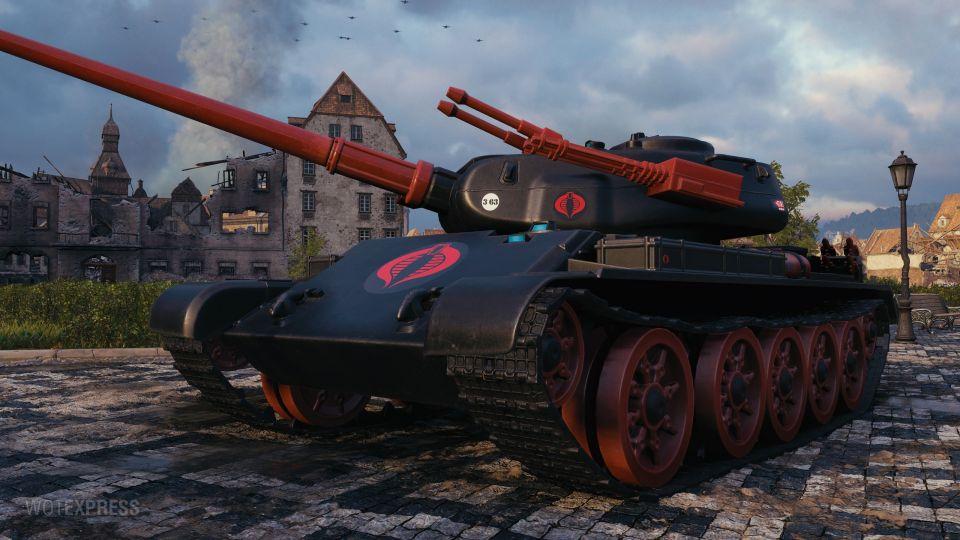 """""""Combat Cobra Tank"""" 3D maskování pro T-54 first prototype"""