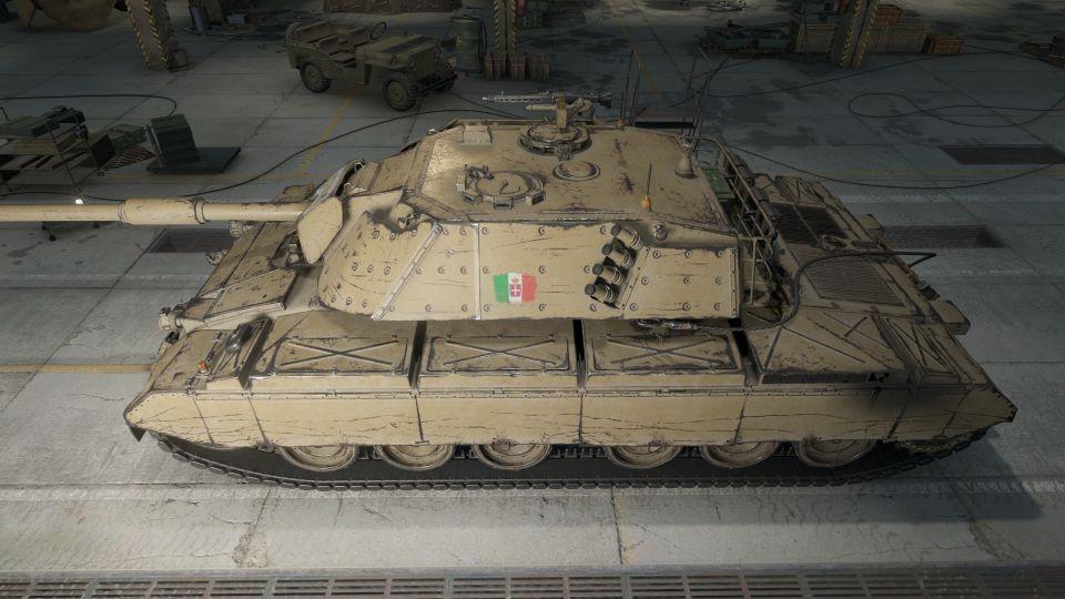 Změna vlastností tanku Progetto 71