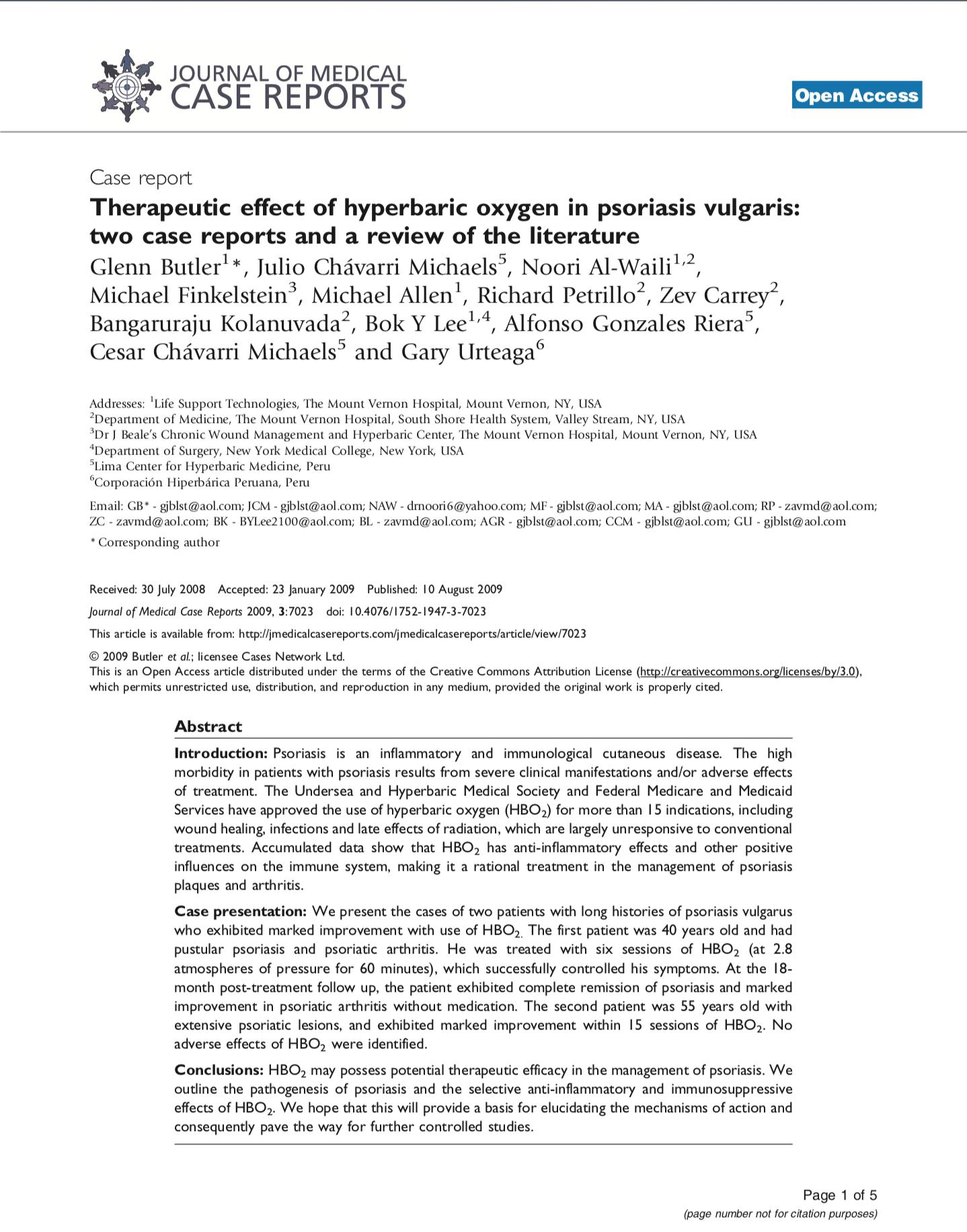 A New Treatment Modality for Fibromyalgia Syndrome Hyperbaric Oxygen Therapy