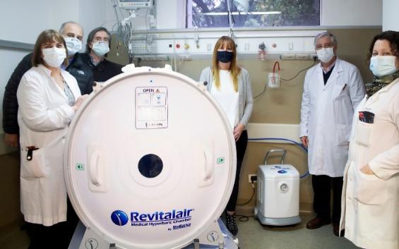 El Hospital Muñiz ahora cuenta con una Cámara Hiperbárica para el tratamiento de pacientes infectados con COVID-19