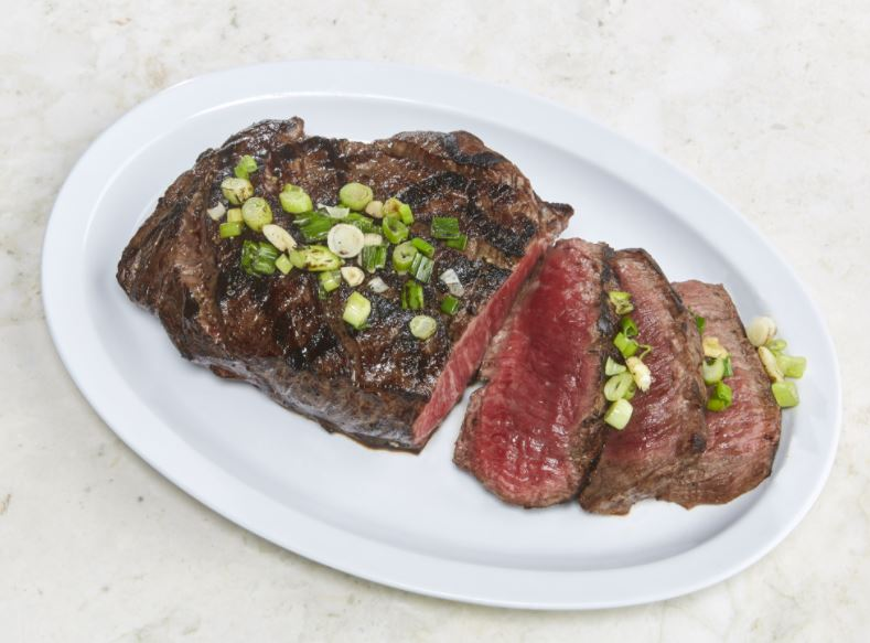 London Broil with green onions