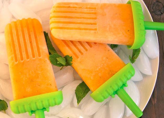 Minty Sugar Kiss Melon Popsicles