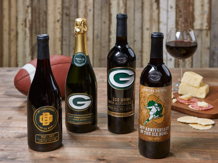 Group shot of special Ice Bowl wine collection