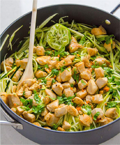 Cilantro Lime Chicken with Zucchini Noodles #festfoods