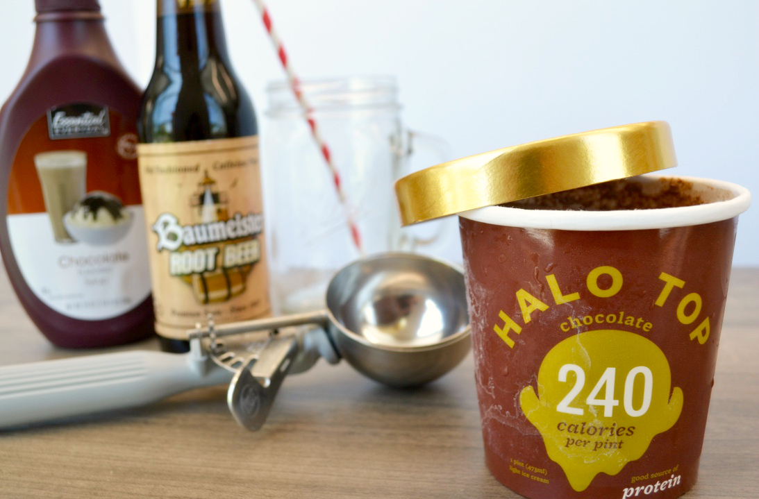 Ingredients needed for Chocolate Float