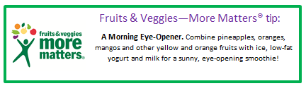 Fruits and Veggies – More Matters™ Tip |Eat Well with Festival Foods