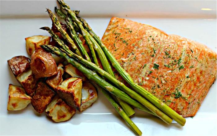 Cedar-Plank-Mustard-Salmon-with-Baby-Red-Potatoes1