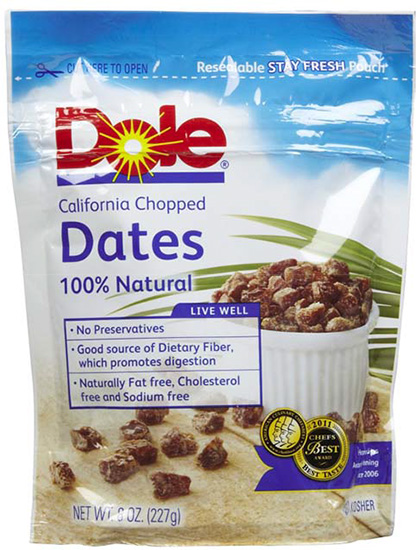 Dole® California Chopped Dates #festfoods