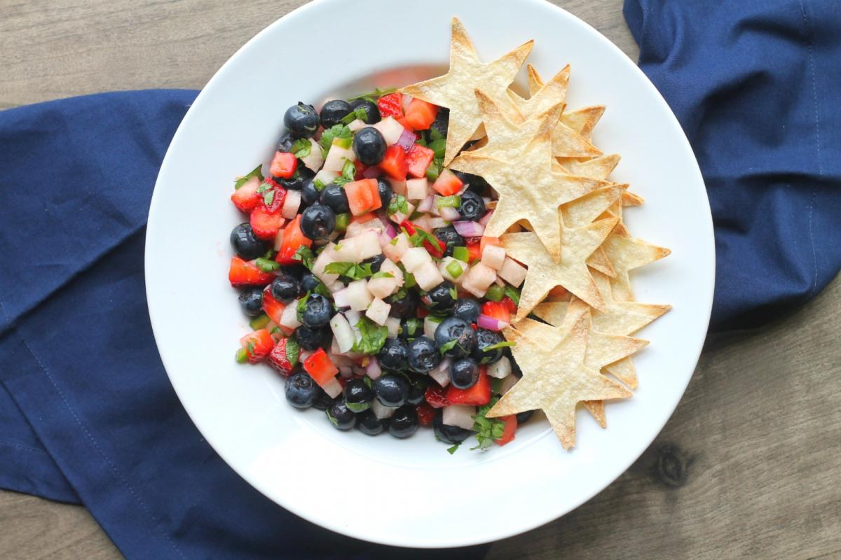 red white and blue salsa