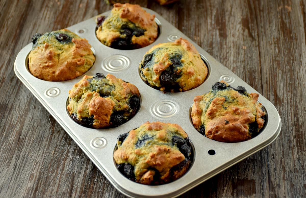 Avocado Blueberry Muffins