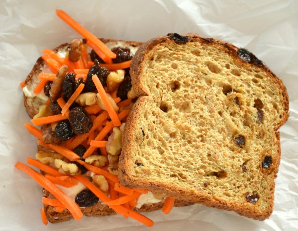 Carrot Cake Breakfast Sandwich