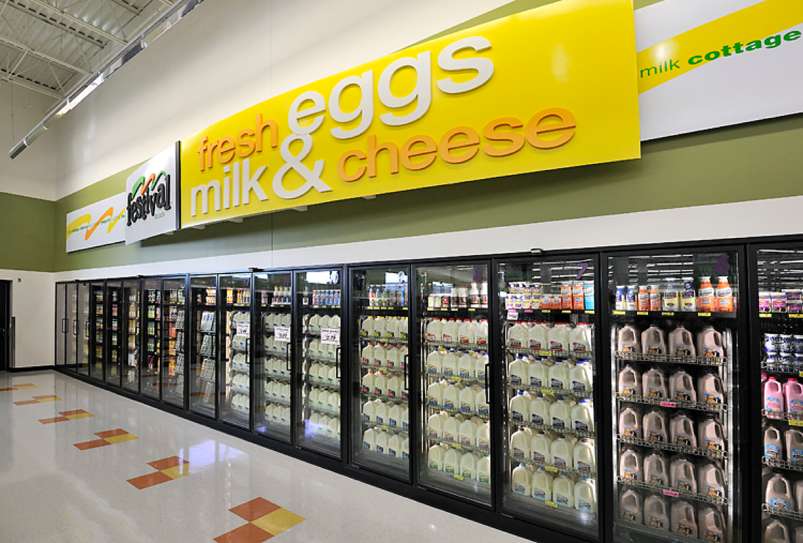 dairy aisle at Festival Foods