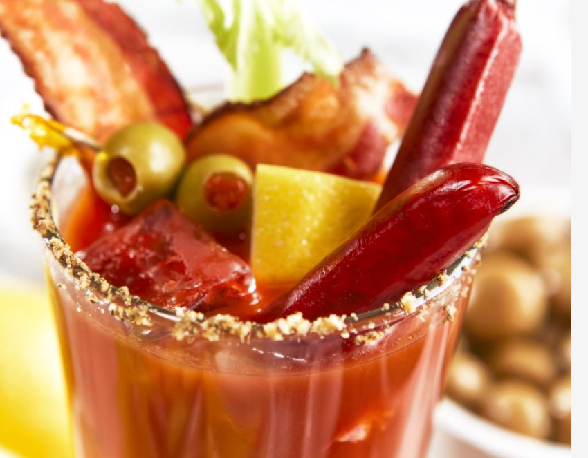 Bloody mary in a glass