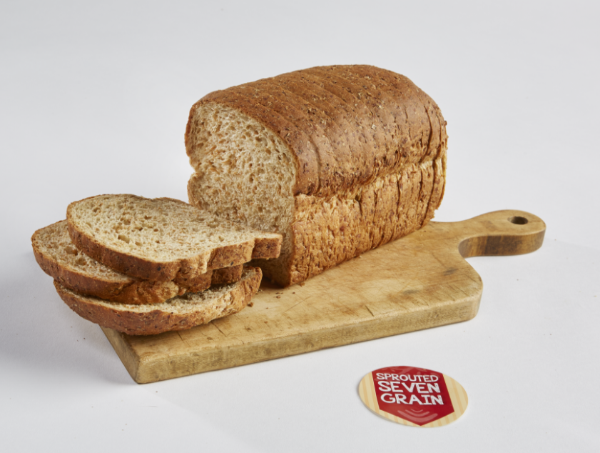 Loaf of sprouted grain