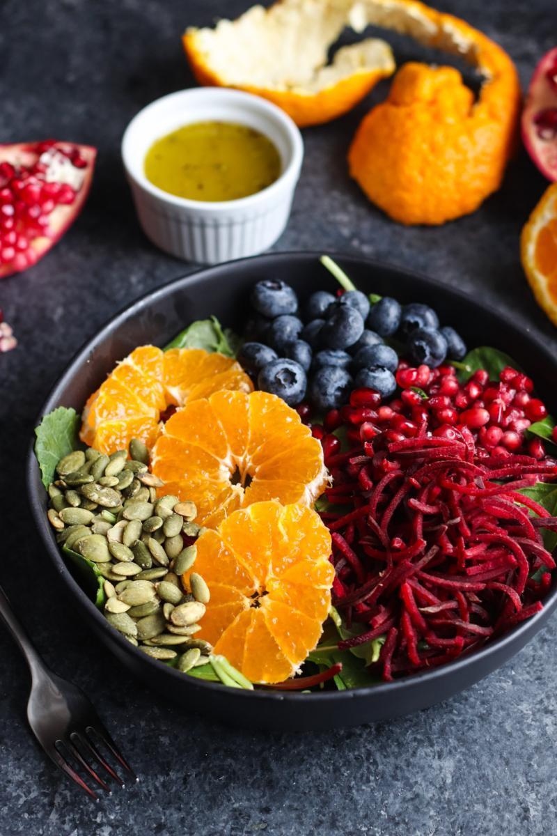 Rainbow Salad with White Wine Vinaigrette