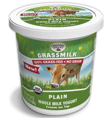 organic valley grassmilk whole milk yogurt