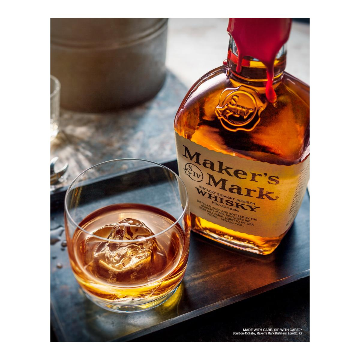 Makers Mark whisky glass