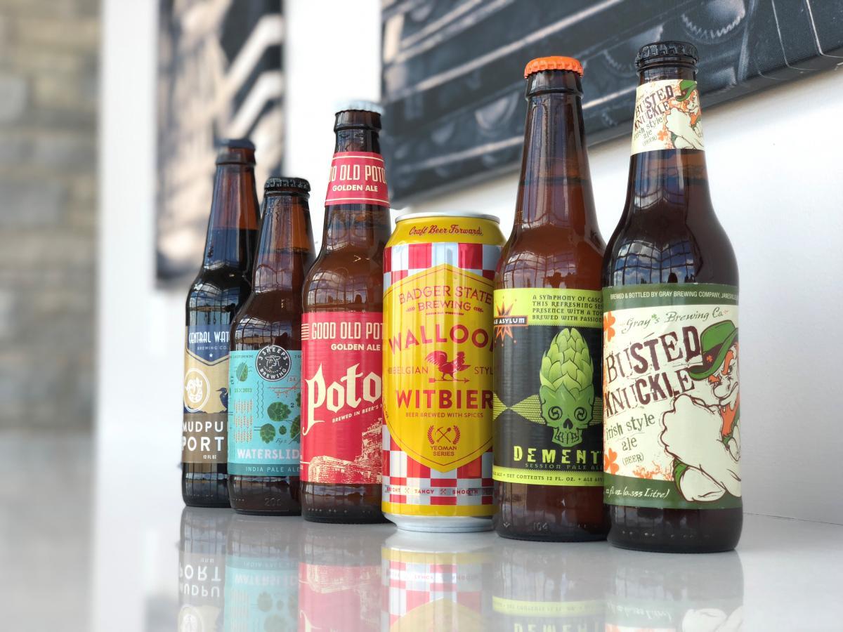 Photo of 6 craft beers