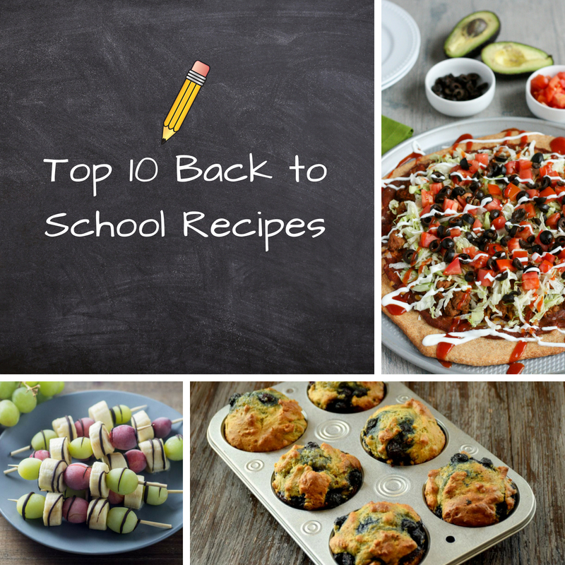 Top 10 Back to School Recipes