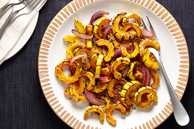 Roasted Delicata & Red Onions | Eat Well at Festival Foods
