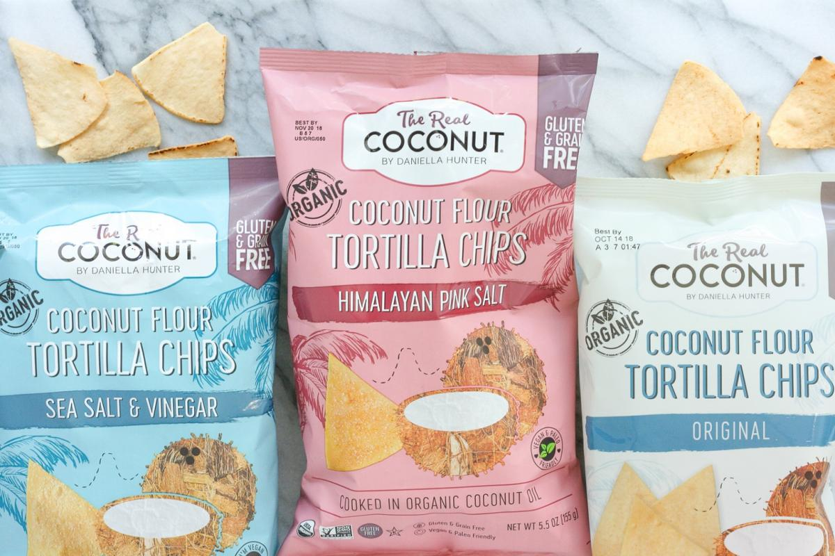 The Real Coconut Coconut Flour Tortilla Chips
