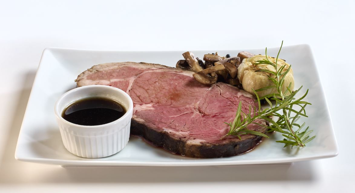 Prime Rib on a plate