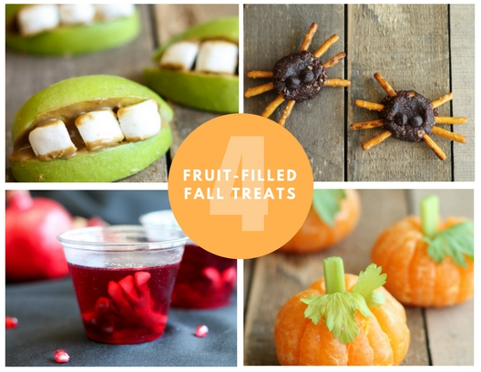 These four quick and easy fall treats are perfect for kids and adults alike! Made with naturally nutritious and delicious fruits, these spook-tacular treats are a great way to celebrate the season without all of the added sugar.