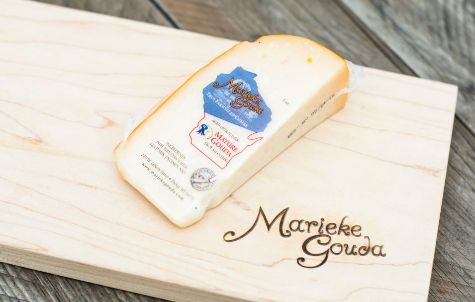 Gouda on a cheese board