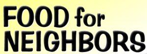 Food For Neighbors sign (2)