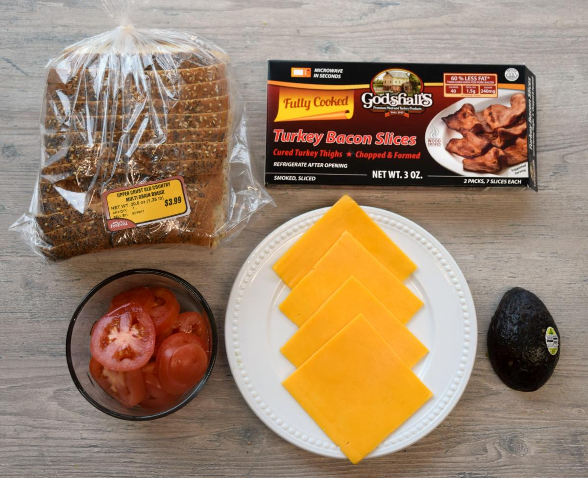 Bacon Grilled Cheese - ingredients