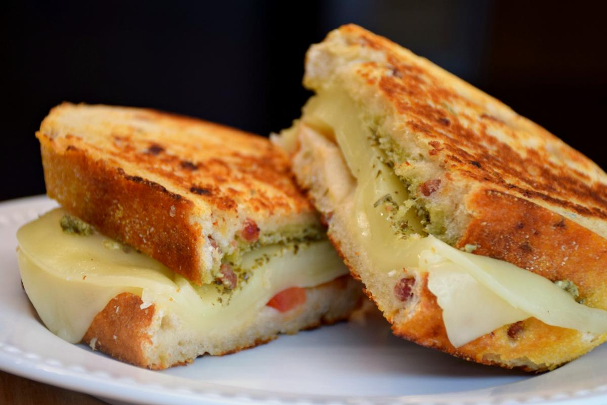 Pesto Grilled Cheese - finished product
