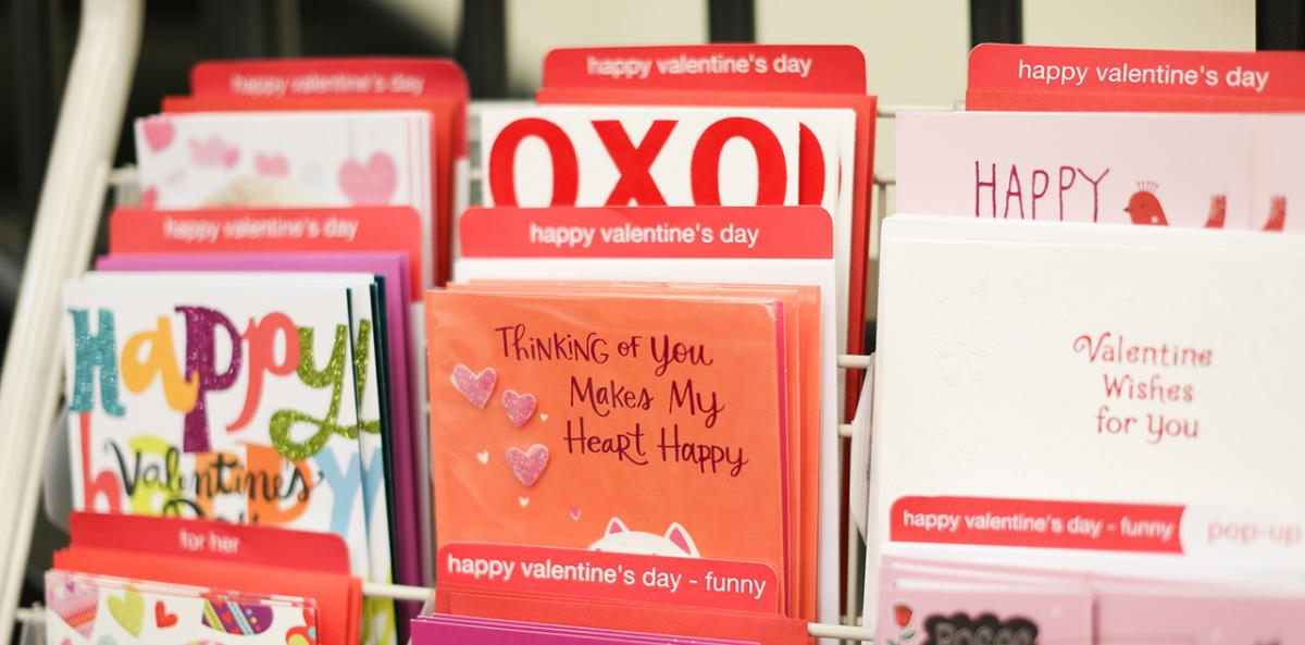 Valentine's Day cards at Festival Foods