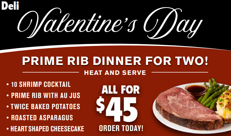 deli meal for valentine's day