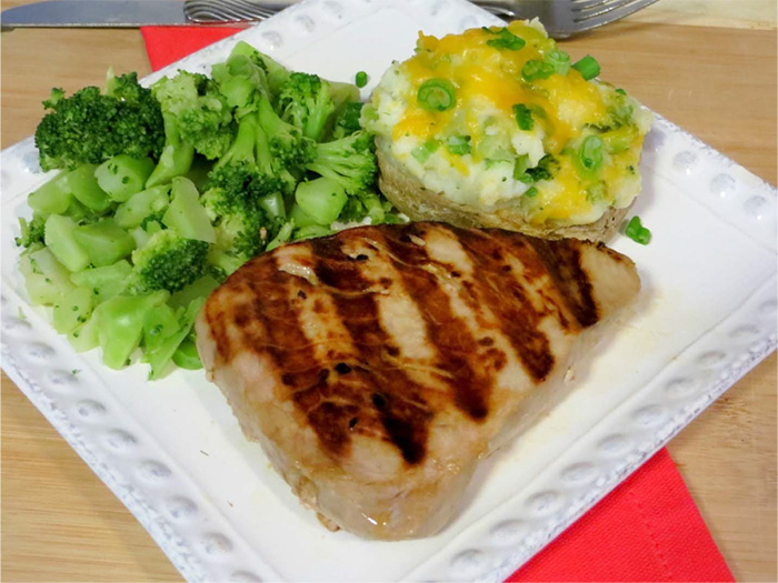 Valentine's Day Dinner for Two: Grilled Ahi Tuna Steak