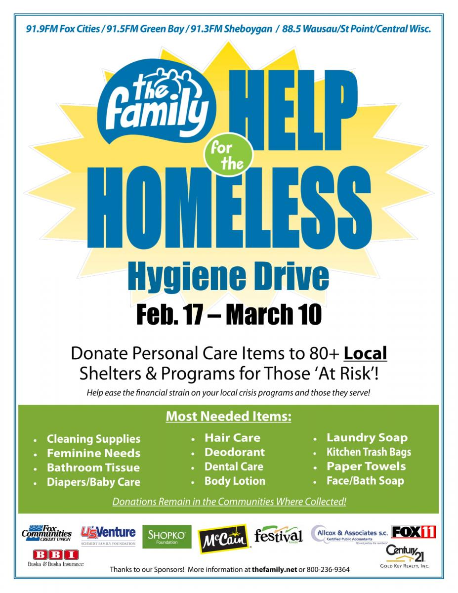Help for the Homeless Drive