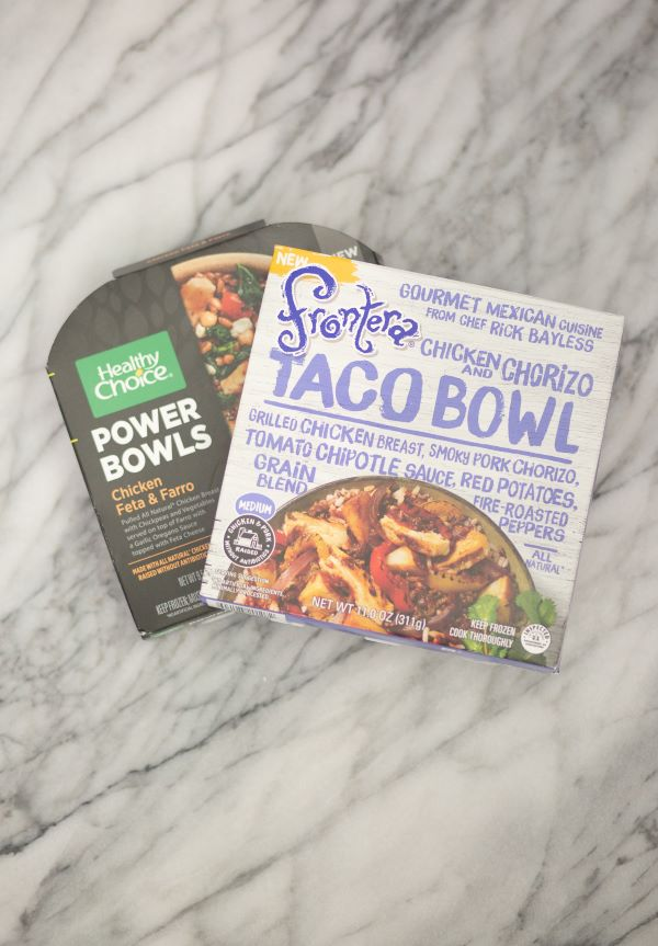 Healthy Choice and Frontera frozen meals