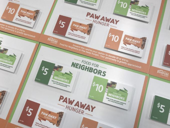 Paw away donation cards